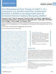 2009 Grati et al, AJMG 2009 - TOMA Advanced Biomedical