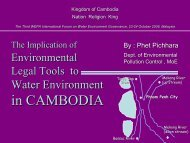 Sound Chemical Management In Cambodia - WEPA