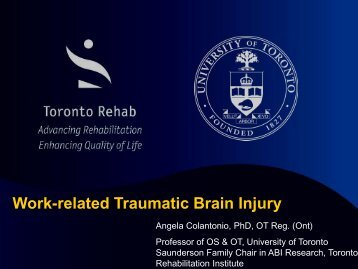 Work-related traumatic brain injury (pdf, 1575kb) - iscrr