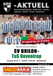 4. Ausgabe vom 30.10.2011 (PDF 4,8MB - SV 20 Brilon