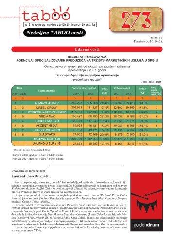 NEDELJNE TABOO VESTI - BROJ 65 (.pdf)