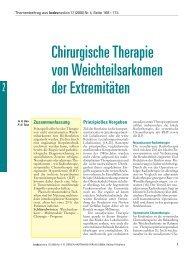 Chirurgische Therapie von Weichteilsarkomen der Extremitäten