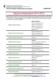 Équipe pédagogique 2012-2013 - Ge.ch