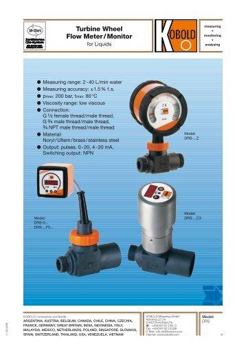 Turbine Wheel Flow Meter / Monitor - Kobold Messring GmbH