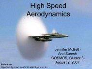 High Speed Aerodynamics - COSMOS