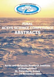 Book of Abstracts - Arctic Climate System Study