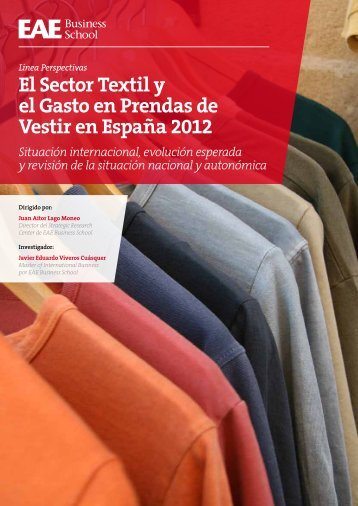 El Sector Textil y el Gasto en Prendas de Vestir en España ... - Cladea