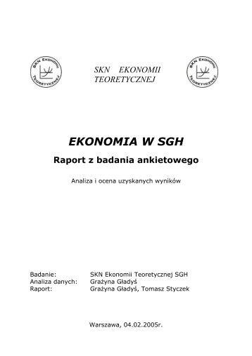 Ekonomia w SGH – badanie naukowe