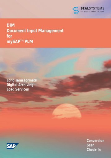 DIM Document Input Management for mySAPTM PLM