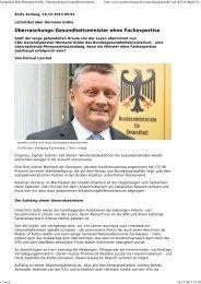 Leitartikel über Hermann Gröhe: Überraschungs ... - Werner Sellmer