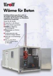 Wärme für Beton - Kroll GmbH