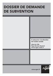 Associations actions sociales - Ville d'Agen