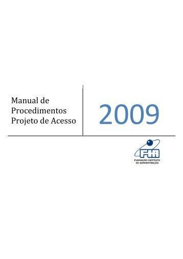Manual de Procedimentos Projeto de Acesso
