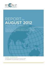 REPORT AUGUST 2012 - ReCAAP