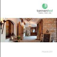 Preisliste (pdf, 147 KB) - Hotel tannenhof