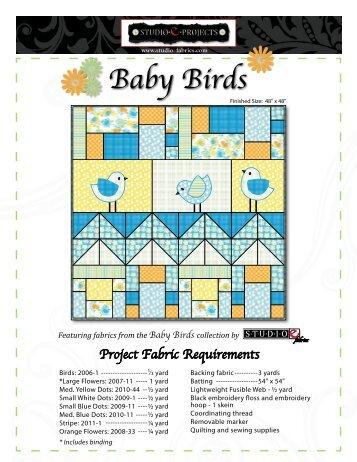 Baby Birds - FabShop Hop