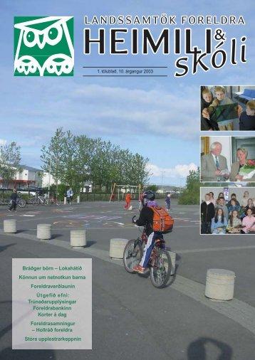 1. tölublað 2003 - Heimili og skóli