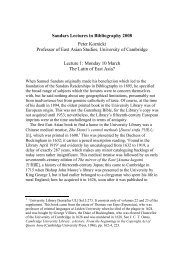 The Latin of East Asia? - Cambridge University Library - University of ...