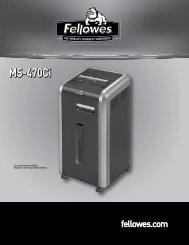 Manuel d'utilisation MS-470Ci - Fellowes