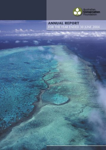 ANNUAL REPORT - Australian Conservation Foundation