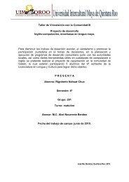 Taller de inglés y computación - UIMQRoo