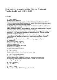 Referat fra ekstraordinær generalforsamling d. 26. april 2012