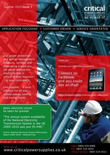 Critical Power Supplies Brochure 2012