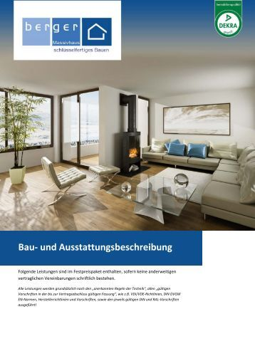 und ausstattungsbeschreibung doppelwohnhaus. Black Bedroom Furniture Sets. Home Design Ideas