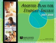 2007-08 Adopted Plan - Wake County Public School System