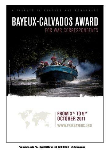 Bayeux award 2011 press kit