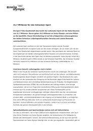 31,7 Millionen für den Schweizer Sport - ASTA
