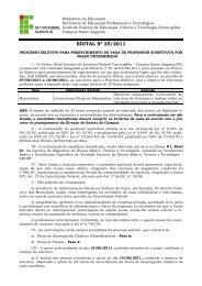 EDITAL Nº 25/2011 - Instituto Federal Farroupilha