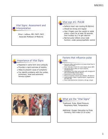 Vital Signs: Assessment and Interpretation Importance ... - TMedWeb