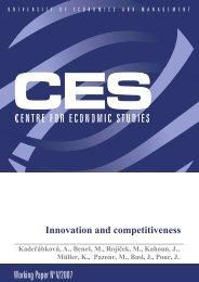 Working Paper No V/2007 Innovation and competitiveness - VÅEM