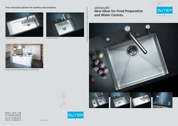 New Ideas for Food Preparation and Water Centres. - Suter Inox AG