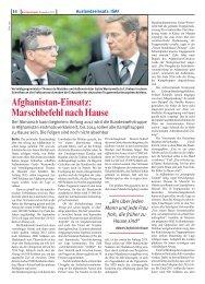 Afghanistan-Einsatz: Marschbefehl nach Hause - Foeg.de