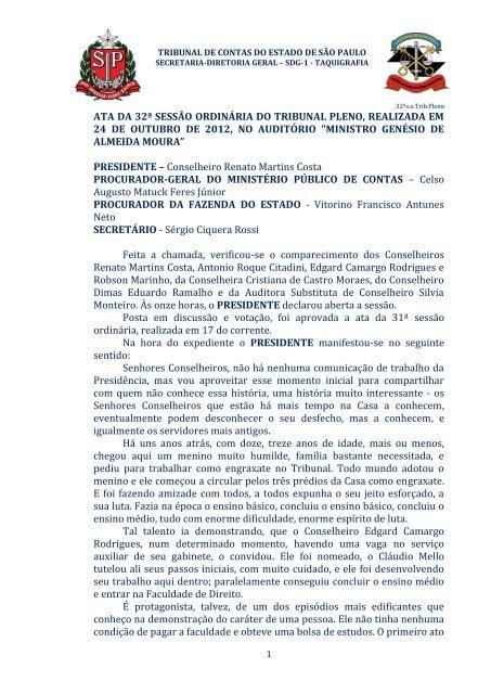 ata da 32ª sessão ordinária do tribunal pleno, realizada em 24 de ...
