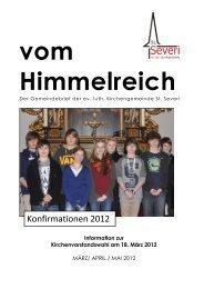 Konfirmationen 2012 - St. Severi Kirche Otterndorf / Niederelbe