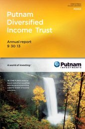 Diversified Income Trust Fund Annual Report - Putnam Investments