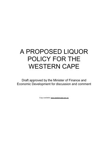 Liquor White Paper final draft document 26 aug 03 - South African ...