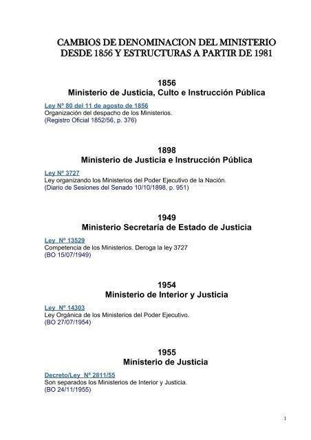 Organigrama Ministerio De Justicia Y Derechos Humanos