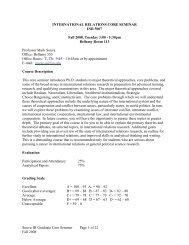 Syllabus Fall 2008 - Mailer Fsu - Florida State University