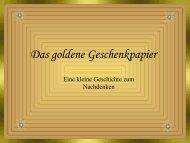 Das goldene Geschenkpapier