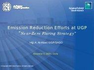 Emission Reduction Efforts at UGP