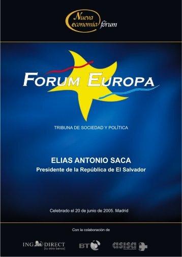 ELIAS ANTONIO SACA - Nueva Economía Fórum