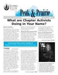 Oct/Nov/Dec 2006 (pdf) - Sierra Club Rocky Mountain Chapter