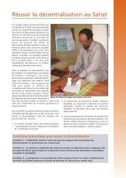 Réussir la décentralisation au Sahel - IED afrique