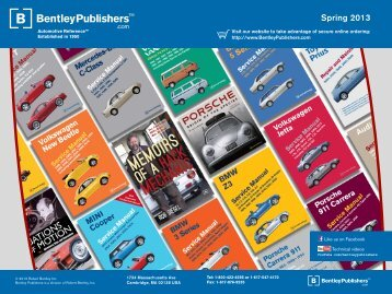 Spring 2013 Catalog - Bentley Publishers