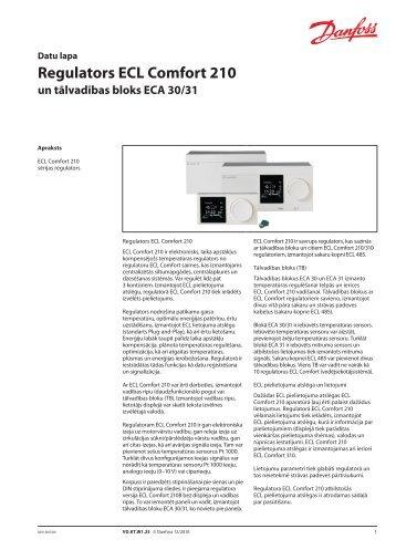 Regulators ECL Comfort 210 - Danfoss apkures portāls