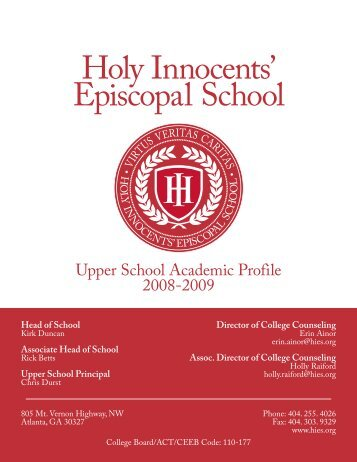 Director of College Counseling - Holy Innocents' Episcopal School